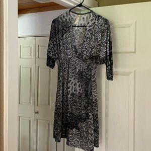 Christinalove black and white paisley dress